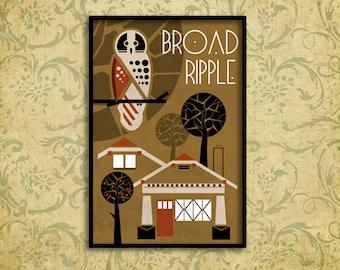 Broad Ripple Poster