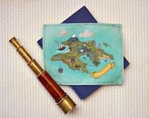 Fabric Neverland Map // Adventure Play Soft Map