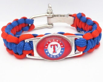 Texas Rangers Paracord Bracelet