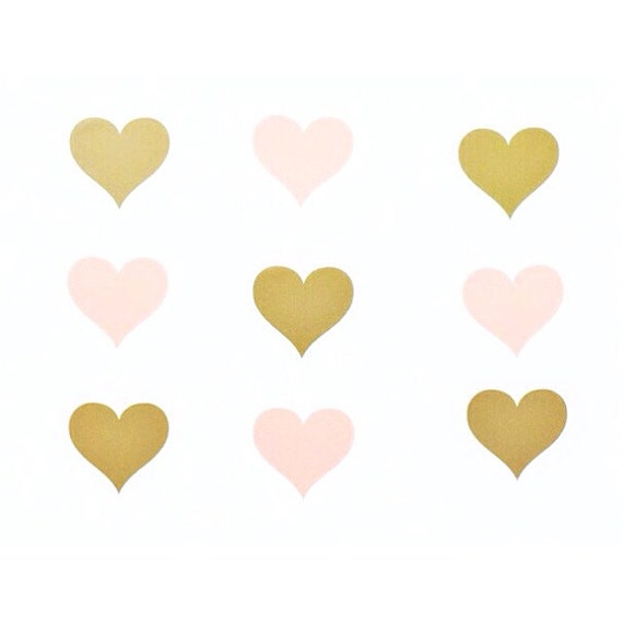45 23939 gold vinyl hearts gold heart decal by for Cute gold heart wall decals