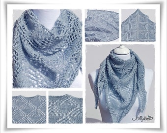 Knitting Pattern Lace Shawl Stella del Mare