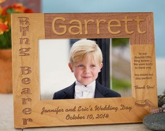 Ring Bearer Picture Frame, wood