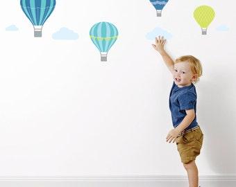 Hot Air Balloon Fabric Wall Stickers | Wall Decals | Nursery & Kids decor