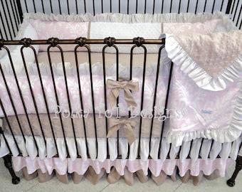 Baby Bedding Pink & Taupe -Cassie