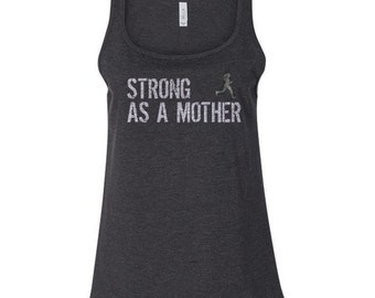 Strong mother tank top small size 2 4 6 fitted by for T shirt printing lakewood ohio