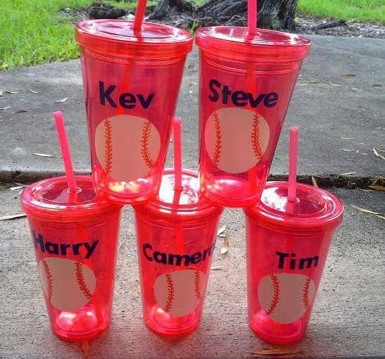 Sports Tumbler Cup Personalized Baseball Tumbler Cup Favors