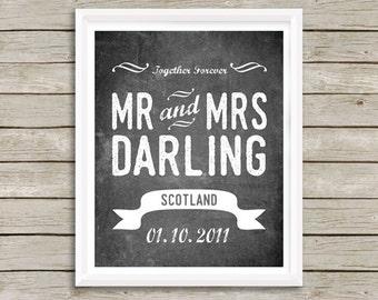CUSTOM Wedding Sign, Personalized Wedding Sign, Wedding Sign, Digital Download, Custom Love Sign, Wedding Signs, Wedding Gift, Custom Size