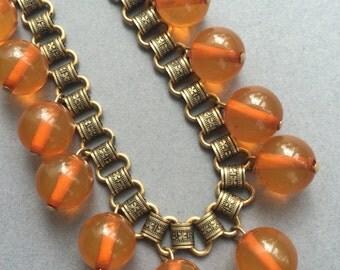 1920's Fringe Bakelite  Book Chain Necklace