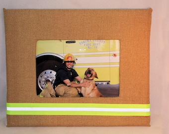 Firefighter Turnout Bunker Gear Photo Frame, Picture Frame 3