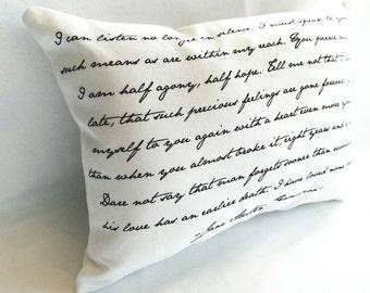 Persuasion Pillow, Jane Austen