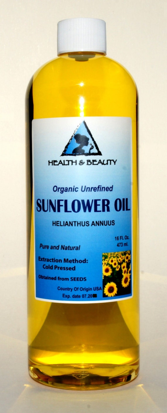 Organic cold pressed sunflower seed oil