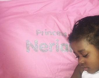 Personalised princess pillow case