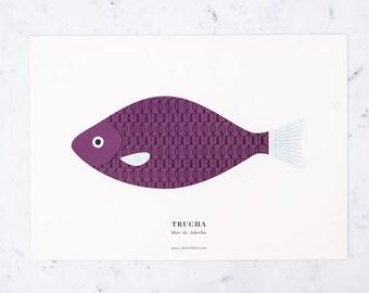 Print - trout A3
