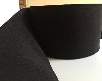 4 in Black Elastic Webbing, 10 cm Black Elastic