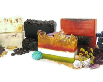 SOAP of the Month CLUB - Receive an Artisan Soap Bar in the Mail Every Month with FREE Samples / Shipping Included / Christmas Gift