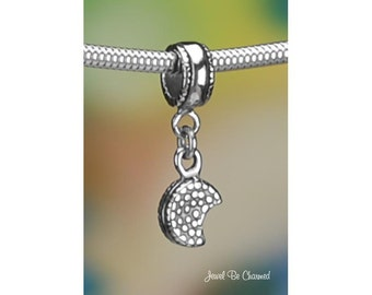 Sterling Silver Sandwich Cookie Charm or European Charm Bracelet .925
