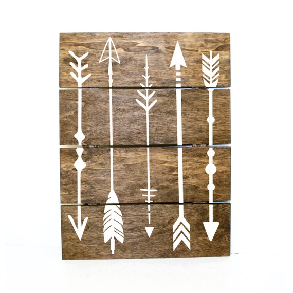 Arrow pallet sign indie home decor gifts for her pallet for Home decor gifts