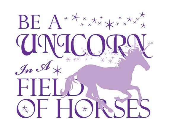 It is a picture of Fan Be a Unicorn in a Field of Horses Free Printable