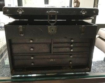 Vintage Grestner Machinists Tool Box w/ Lock and Key