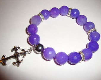 Purple Agate Stone Bracelet