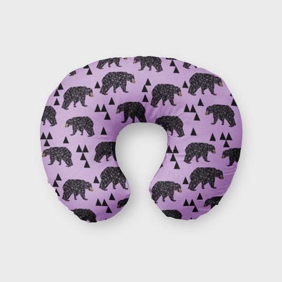 Items Similar To Nursing Pillow Cover Purple Triangle Bear
