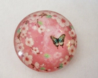 Butterfly Blossoms Cabochon,20mm