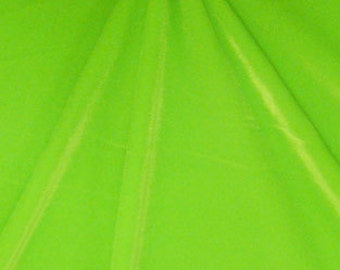 Stretch Velvet Fabric, Neon Green/ Lime Stretch Velvet Fabric, Four way Stretch Velvets by the 1/8, 1/4, 1/2 Yard Cut Item# GM100-2-2008