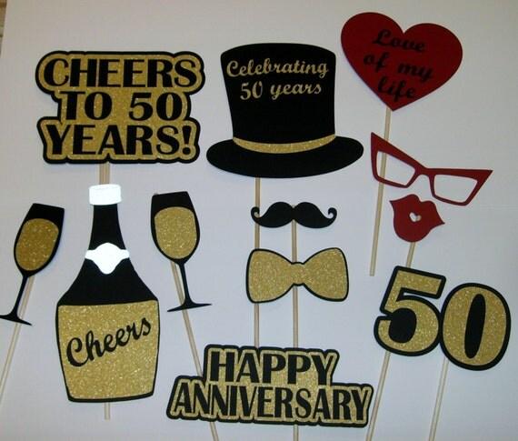 50th Anniversary Photo Prop / Golden Anniversary/ Cheers