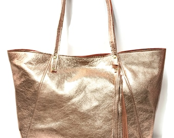 A-Line Rose Gold Market Tote