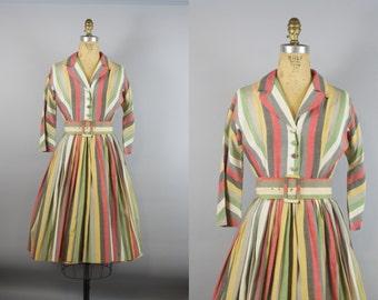 Blackpool Rock Dress  / 50s Dress / Cotton 50s Dress