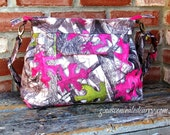 Concealed Carry Purses, True Timber Camo, Gray/Pink/Green, Locking Zippers Available, Made in MO, USA