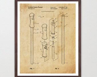 Camping - Hiking Poles - Trekking Poles - Hiking Art - Hiking Patent - Hiking Poster - Trekking Art - Climbing - Hiker - Walking - Walk Art