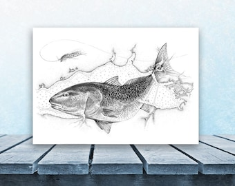 M a h i mahi hand etched with boho frame by thedriftgallery for Wyoming game and fish draw results
