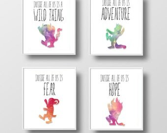Where The Wild Things Are Print Series/Printable Prints/8x10 Prints/Digital/Nursery Prints/Children's Movie/Children's Book/Instant download