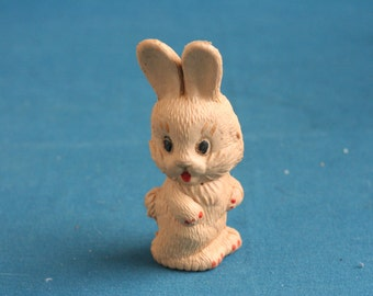 vintage hard rubber toy doll rabbit Bunny from the 1960's 1970's think made in Russia