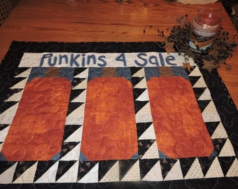 """Punkins for Sale - FALL Wall Warmer or Runner or Mini Quilt    30.5"""" x 23"""""""