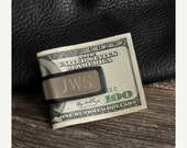 Personalized Rubber Grip Money Clip - Engraved money clip - Stainless Money Clip - Gifts for him - Groomsmen Gifts -  (830)