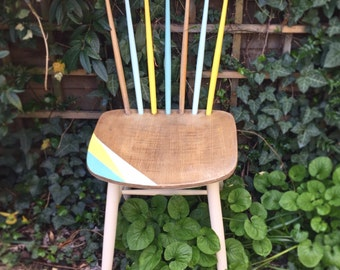 Unique, upcycled mid-century chair, handpainted with Authentico Vintage Chalk Paint