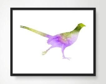 Roadrunner Art Print - Watercolor Bird Painting, Bird Art, Bird Nursery Decor, Animal Painting, Bird Home Decor, Purple Baby Nursery