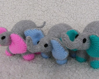 Hand Knitted Baby Elephant