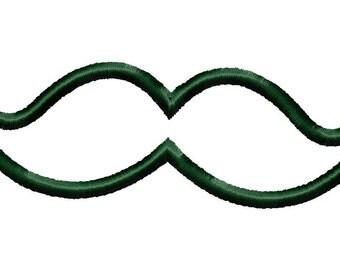 Mustache applique design download - 4x4 hoop size
