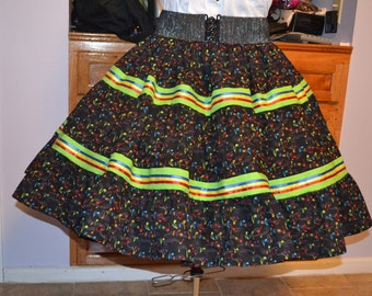 Plus size  Square Dance Skirt