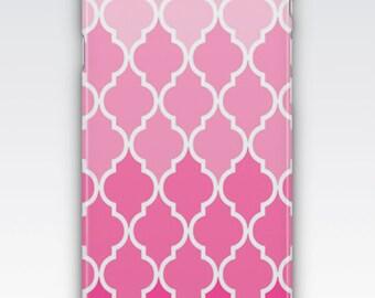 Case for iPhone 8, iPhone 6s,  iPhone 6 Plus,  iPhone 5s,  iPhone SE,  iPhone 5c,  iPhone 7  - Pink Ombre Quatrefoil Design iPhone