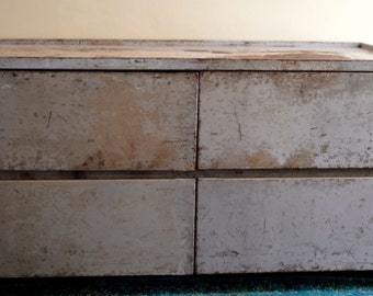 Vintage 1940s Industrial Chic Metal Dresser
