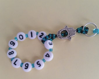 Helping Hand - Row Counter / Stitch Marker / Knitting Gadget  / Cable Helper / Turquois
