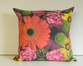 GERBERA Cushion Cover, decorative cushion, decorative pillow, gerbera cushion, gerbera pillow, gift for her, australian made