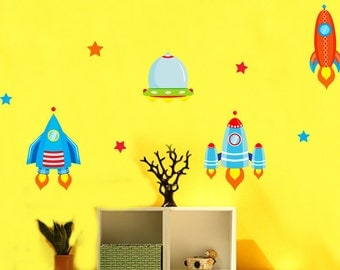Removable Wall Stickers - Rockets & Spaceships - AW1302
