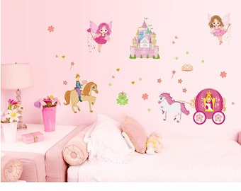 Glow in the dark wall stickers - Fairy Castle - AW9609
