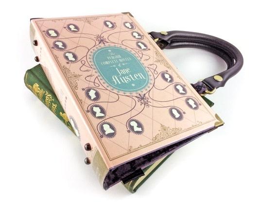 Jane Austen Handbag, Pride and Prejudice bag, Pride and Prejudice purse, Jane Austen purse, Bridesmaid gift, Gift for an English teacher