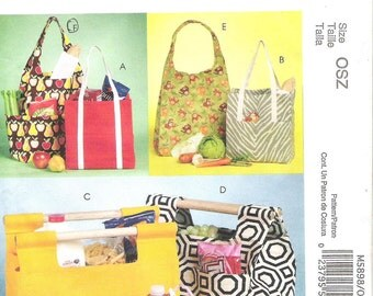 McCall's 5898 FASHION ACCESSORIES TOTES, Sewing Pattern, Marketing Totes, Bottle Carrier, Uncut